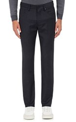 Incotex Men's Wool Cashmere Five Pocket Trousers Navy