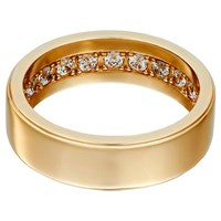 Openjart Sapphires Inside Men's Solid Wedding Ring Gold
