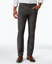 Inc International Concepts Men's Slim Fit Stretch Corduroy Pants Only At Macy's Charcoal