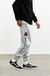 Champion Reverse Weave Script Logo Sweatpant Light Grey