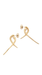 Campbell Small Talon Hoop Earrings Gold