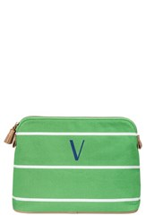 Cathy's Concepts Personalized Cosmetics Case Green V