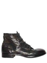 Premiata Washed Leather Lace Up Boots