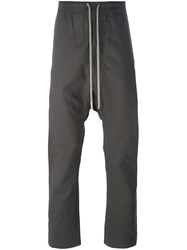 Rick Owens Drkshdw Drop Crotch Track Pants Grey