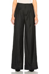 Etro Pinstripe Trousers In Black Stripes Black Stripes