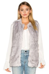 Unreal Fur Silver Lining Faux Vest Light Gray