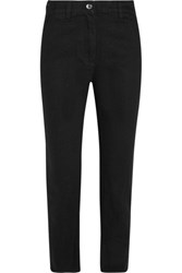 Keji Cropped High Rise Slim Leg Jeans Black