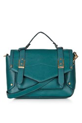 Topshop Smart Satchel Bag Teal