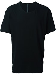 Attachment Scoop Neck T Shirt Black