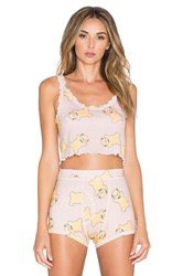 Wildfox Couture Ruffle All Over Teddy Cami Blush