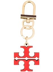 Tory Burch Logo Keyring Red
