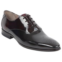 Oliver Sweeney London Hi Shine Leather Oxford Shoes Black Burgundy
