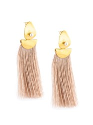 Lizzie Fortunato Jewels Fringe Earrings Pink And Purple