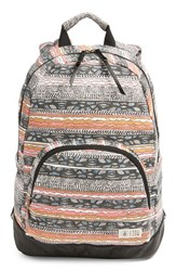 Volcom 'Schoolyard' Canvas Backpack Pink Neon Pink