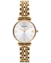 Emporio Armani Women's Gold Ion Plated Stainless Steel Bracelet Watch 32Mm Ar1877