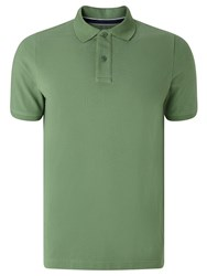 John Lewis Organic Cotton Short Sleeve Polo Shirt Mid Green