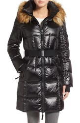 S13 Nyc Women's 'Nolita' Quilted Coat With Faux Fur Trim
