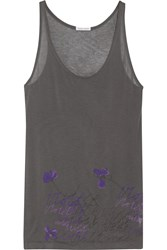 Tomas Maier Printed Stretch Jersey Top Gray