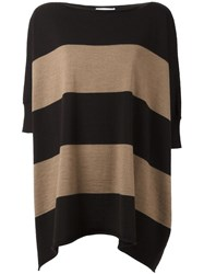 Societe Anonyme Loose Fit Striped Sweater Brown