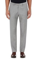 Incotex Men's S Body Slim Fit Wool Cashmere Trousers White