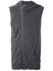 Lost And Found Ria Dunn Sleeveless Hoodie Grey