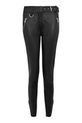 Topshop Real Leather Biker Trouser Black