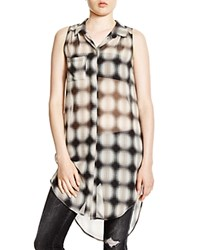 Lush Sleeveless Plaid Shirt Taupe Black Olive