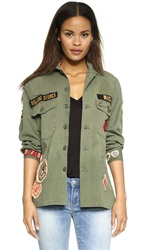 Madeworn Rock Rolling Stones 1975 Army Jacket Army Green
