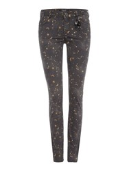 Maison Scotch Parisienne Printed Skinny Jean Black