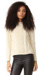 Tejido Aran Cable Pullover Cream