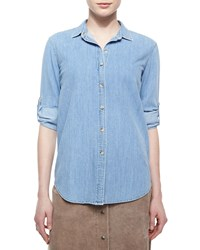 Mih Jeans The Loose Chambray Shirt Blue Chambray