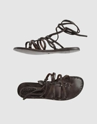 Silvano Sassetti Thong Sandals Dark Brown