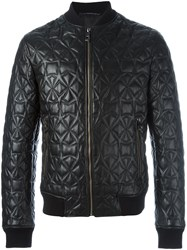 Versace Collection Star Detail Bomber Jacket Black