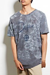 Forever 21 Dope Tie Dye Graphic Tee Black Grey