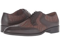Etro Arnica Oxford Multi Brown Orange Men's Lace Up Casual Shoes