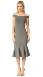Keepsake If Only Knit Dress Khaki