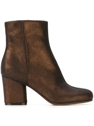 Maison Martin Margiela Metallic Ankle Boots Brown