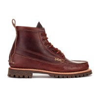 Yuketen Men's Leather Angler Lace Up Boots Brown