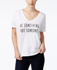 Retro Brand Be Something Graphic Boyfriend T Shirt White