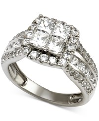 Macy's Diamond Engagement Ring 2 1 2 Ct. T.W. In 14K White Gold