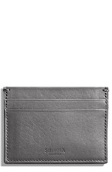 Shinola Leather Card Case Grey Gunmetal
