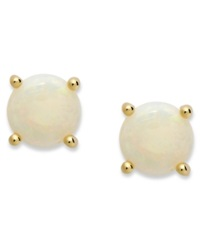 Victoria Townsend 18K Gold Over Sterling Sterling Earrings October's Birthstone Opal Stud Earrings 1 1 5 Ct. T.W. None