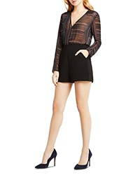 Bcbgeneration Sheer Bodice Romper Black Multi