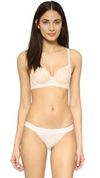 Heidi Klum Intimates Sheer Infinity Contour Spacer Bra Cream Tan Retro Cream