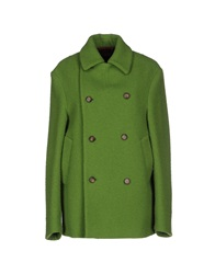Stella Jean Full Length Jackets Light Green