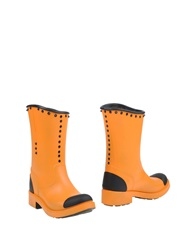 Barracuda Ankle Boots Orange