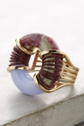 Anthropologie Electric Surge Ring Blue Laced Agate