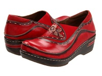 Spring Step Burbank Red Women's Clog Shoes