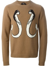 N 21 N.21 Mermaid Intarsia Sweater Brown