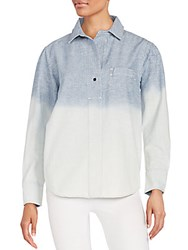 Rag And Bone Dip Dye Cotton Popover Shirt Grimsby Ombre
